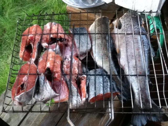 Обычный ужин на нашей рыбалке!!!!