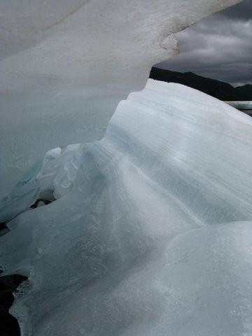 Льды перевала. Июль.