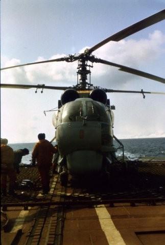 На крейсере в Тихом океане.