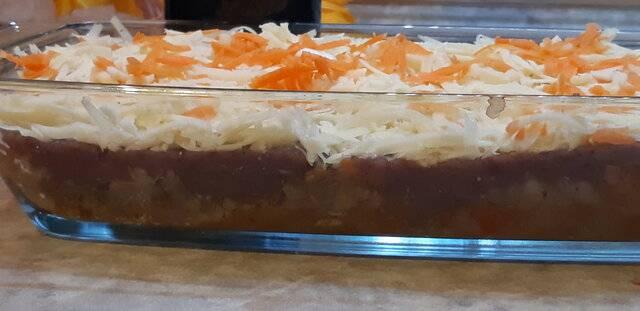 Пастуший пирог с фаршем из лосятины и гречкой с  овощами,тушеными в краснов вине (6).jpg