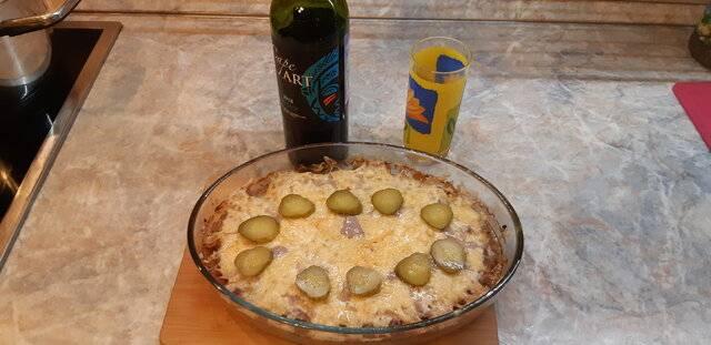 Пастуший пирог с фаршем из лосятины и гречкой с  овощами,тушеными в краснов вине (7).jpg